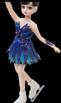 「浅田真央選手のリカちゃん」もうすぐ申込受付が始まる ラフマニノフの衣装でスケート靴もついている - 本読み虫さとこ・ぺらぺらうかうか堂(フィギュアスケート&映画も)
