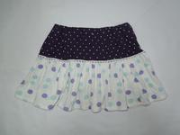 174.紫ドット柄のスカート(再リメイク) - フリルの子供服