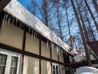 強い日差しで激しく雪どけ・・まもなく屋根の雪が落ちます! - 十勝・中札内村「森の中の日記」~café&宿カンタベリー~