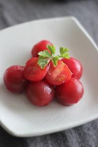 人生初かも!?プチトマトの湯むき・・・♪ - 手づくりひとてまの会『文京区 初心者さん向け洋裁教室』