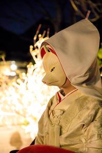 東山花灯路2017・春乃流舞踊奉納と狐の嫁入り - 花景色-K.W.C. PhotoBlog