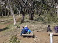 4・1花見に備え、山桜樹林地の下草刈り・3月六国見山定例 - 北鎌倉湧水ネットワーク