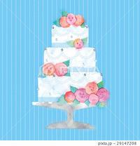ウェディングケーキのイラスト - ** アトリエ Chica **