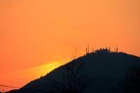 夕暮れの金峰山(熊本市)。 - 青い海と空を追いかけて。