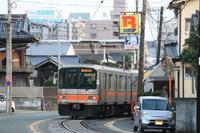 併用軌道区間(熊本電鉄)。 - 青い海と空を追いかけて。
