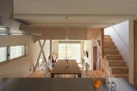 宝塚の家  木造3階建てスキップフロア - 家をつくることを考える仕事をしています。 Coo Planning