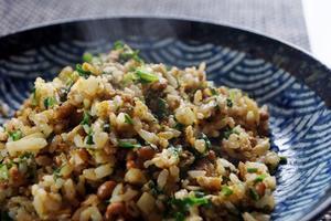 ■昼ご飯【シンプルが美味しい!!納豆チャーハン/自家製保存食・牛蒡茶作り。) 】です♪ - 「料理と趣味の部屋」