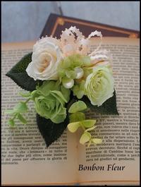簡単装着 マグネット式プリザーブドフラワーコサージュ - Bonbon Fleur ~ Jours heureux  コサージュ&和装髪飾りボンボン・フルール