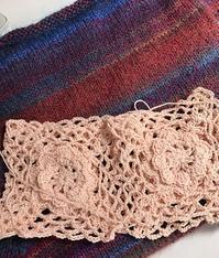 編み物第2弾(ピンクのベスト) - ドイツ語のある暮らし