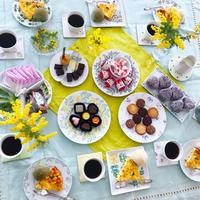 春色 potluck party - nico☆nicoな暮らし~絵付けと花とおやつ