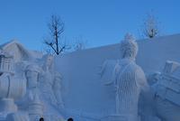 北海道最終日・一足早い雪まつり♪ - ふわふわ羊の布つくり