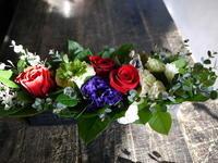保育園の先生へ。アレンジメント3種②。ブリキコンテナアレンジメント。 - 札幌 花屋 meLL flowers
