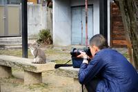 町角ニャンコ・お兄さんとニャンコ - デジタルな鍛冶屋の写真歩記