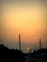 夕陽を追いかけて - 片眼を閉じて見る世界には・・・。