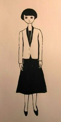 スーツ - たなかきょおこ-旅する絵描きの絵日記/Kyoko Tanaka Illustrated Diary