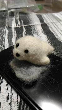 ゴマフアザラシ - 羊毛フェルト男(羊毛フェルトマン)
