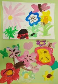 3/12 子供アート教室 みんなの花が咲く - miwa-watercolor-garden