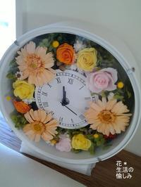 ガーベラの花時計 - 『 花*生活の愉しみ 』