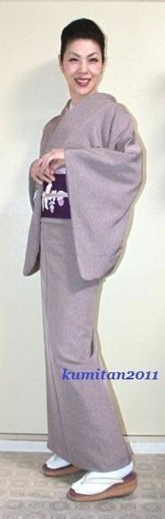 今日の着物コーディネート♪(2017.3.22)~色無地&塩瀬帯編~ - 着物、ときどきチロ美&チャ美。。。お誂えもリサイクルも♪