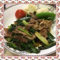 豚肉と葉玉ねぎのすき焼き風炒め - kajuの■今日のお料理・簡単レシピ■