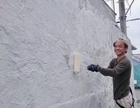 ジミ練の効用その2 (外壁のペンキ下地を塗るときに) - 自分らしさ★あふれだす♪  てぃーだスマイル