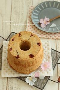 桜のシフォンケーキ&お庭通信、そして嬉しいご報告(^^♪ - komorebi*