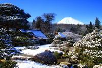 29年3月の富士(21)雪の庭園と富士 - 富士への散歩道 ~撮影記~