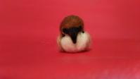 スズメ その3 - 羊毛フェルト男(羊毛フェルトマン)