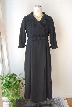 着物リメイク・喪服の着物からワンピース - harico couture