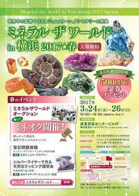 ミネラルザワールド開催 3/24-3/26 - 月のかけら~モーフの旅と世界の天然石のブログ☆
