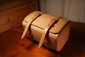 BMW R100GSrear bagnatural - stovl leather log