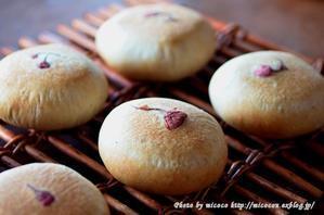 いちご酵母のあんぱん - 森の中でパンを楽しむ