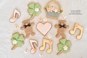 春のアイシングクッキー - honey+Cafe