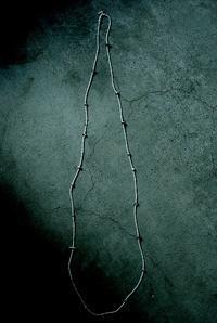 陶器 × Antique beads  long  necklace - womb_a_closet