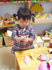 《2歳4ヶ月》折り紙あそび - ゆりぽんフォト記
