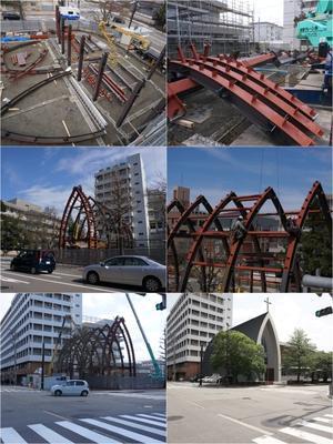 金沢ヨハネ教会・聖ヨハネ保育園の鉄骨建方 - Studio Okamoto の 徒然日記