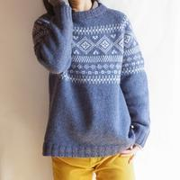 Nordic Yoke Sweater - cocoon hand-knit works