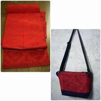 以前作った帯リメイクのショルダーバッグからの バッグインバッグ - ミシン 縫い縫い日記
