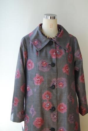 着物リメイク・大島紬からレトロコート - harico couture