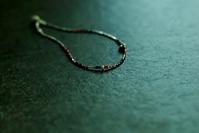 Silver × Vintage bead  Anklet - pink - womb_a_closet