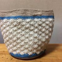 二つ目の松編みマルシェバッグが完成しました。 - +you
