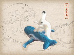 『鳥獣戯画』で因幡の白兎 - とんでもひつじ日和