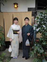 風の強い日ですね、台湾からのお二人さん。 - 京都嵐山 着物レンタル&着付け「遊月」