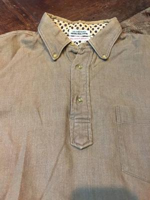 60s all cotton  HOP SACK マーシャルフィールド プルオーバーB.D shirts! - ショウザンビル mecca BLOG!!