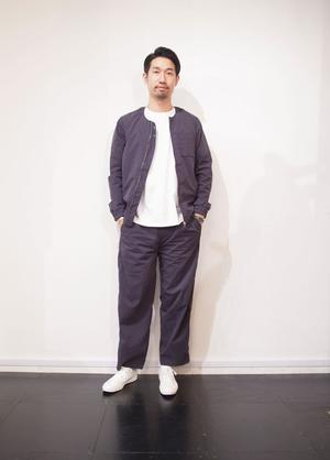 RECOMMEND SET UP STYLE !! Sandinista - Collarless Spring Packable Stretch Jacket & Pants - HUMAN and THINGS.BLOG
