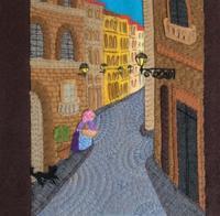フェルト絵本「石畳みの細い路地」のページ - SAKOmama  布絵本工房
