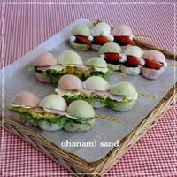 お花見だんご風サンドイッチ☆ - パンのちケーキ時々わんこ