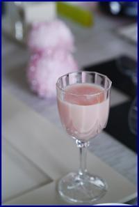 桜色の食前酒で春色気分で乾杯!@春の家庭風会席料理でおもてなし - mycantik colors *マイキャンティック カラーズ*