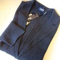 Drumohr(ドルモア)強撚コットンミラノリブニットジャケット(メランジネイビー) - 下町の洋服店 krunchの日記