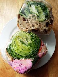 桜のようなPOTASTA柴漬けポテトサンド - パンある日記(仮)@この世にパンがある限り。
